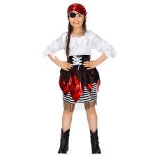Costume da Bambina Corsara Pirata Piratessa Ragazza Vestito Carnevale Halloween