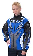Niños Wulfsport Quad Kart Motocross Niños Wulf MX ataque montaje Chaqueta Azul T