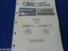 1987, 2.5 Excel 4/Ultra 4 Models OMC Evinrude Johnson Parts Catalog