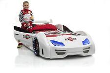 Autobett GT 999 Weiß Vollausstattung mit Türen Sound und LED Beleucht Kinderbett