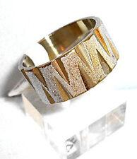 10 mm breit, Edelstahl Ring, gold silber, Gr.18, 19, 20, 21, 22, Schmuck, NEU