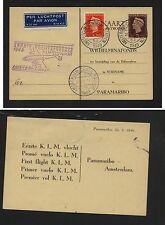 Netherlands  nice KLM first flight card  1949  cahcet          HC0326-1