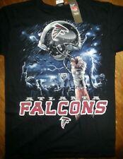ATLANTA FALCONS  New with tags SKY HELMET T-Shirt BLACK NFL LICENSED APPAREL
