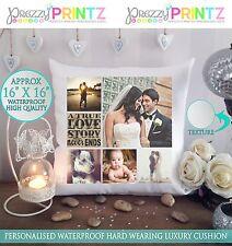 """16"""" x 16"""" foto Personalizzata Collage Regalo Cuscino Natale Anniversario Di Matrimonio"""