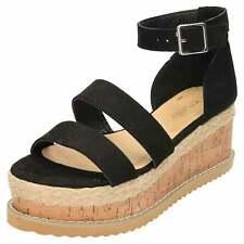Wedge Heel Platform Sandals Ankle Strap Flatform Open Toe Strappy Shoes Flatform