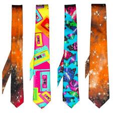 Womens 100% Silk Neck Tie Alternative Quirky Formalwear Wedding Funky Party