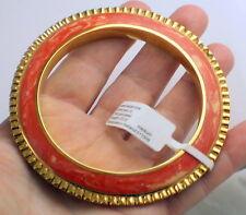 ISHARYA Sparkly 18k Gold Plated Rhinestone Coral Resin Bangle Bracelet