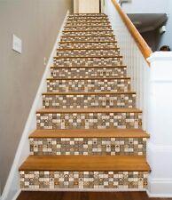 3D Metope Flower 8 Tile Marble Stair Risers Photo Mural Vinyl Decal Wallpaper