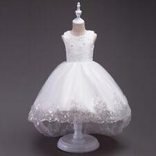 Kids Baby Wedding children Girls Flower Girl Bow Princess Bridesmaid Gown New