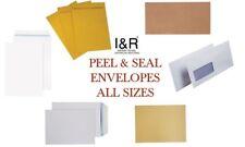 PEEL & SEAL Various Size Envelopes Large Medium Small Letters C4 C5 C6 DL
