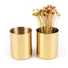 Brass Vase Tableware Organizer Pen Make-up Brush Holder Photography Props