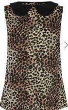 Collar De Animal Print Top Elegante Oasis cierre de botón Por Menor £ 35.00