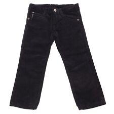 4868U pantaloni blu bimbo ARMANI JUNIOR  velluto a coste trouser pant kid
