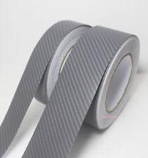 DIY Adhesive Grey 4D Texture Carbon Fiber Vinyl Tape Car Wrap Sticker Film - AB