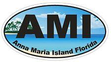 Anna Maria Island Floride Ovale Autocollant ou Casque Autocollant D1132