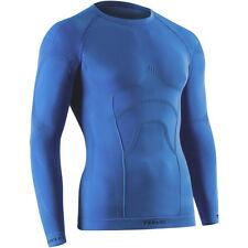 Tervel Comfortline Hombre Deporte Gimnasio Térmica Manga Larga Capa Camisa Azul