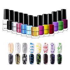 NICOLE DIARY 6ml Stamping Nail Polish Pure Colour Nail Art Printing Varnish