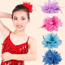 Girls Chiffon Fabric Flower Hair Clips Grips Slides Ponytail Hair Bobbles Pin UK