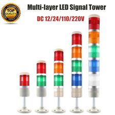 LED Industrial Signal Tower Light Warning Light DC 12 24 110 220V 5W