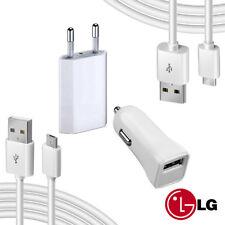 KIT MICRO USB / TIPO C CARICABATTERIE 3 IN 1 PER LG G8 / LG Q6 / LG V30
