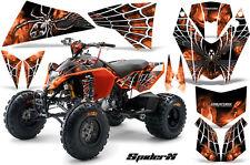 KTM ATV 450/525 SX XC QUAD CREATORX GRAPHIC KIT DECALS SPIDERX WHITE ORANGE