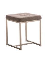 Tabouret bas BARCI tissu fauteuil design chaise siege salon rembourré cuisine