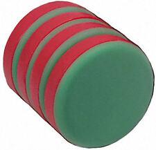 "4 Neodymium Magnets 3/4 x 1/8"" Disc PLASTIC COATED N48"