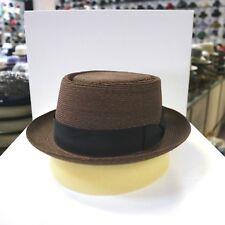 BILTMORE BROWN PORK PIE HEMP DRESS HAT