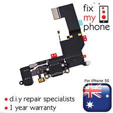 Black Dock Connector Charging Port Jack Flex Microphone for iPhone 5S