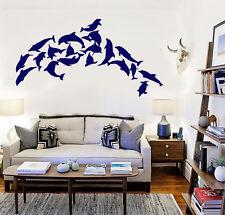 Vinyl Wall Mural Dolphins Marine Decor Ocean Stickers (158ig)