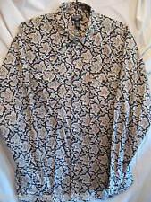 RALPH LAUREN Men's Western Cowboy Rodeo Pearl Snap Cotton Shirt Rare Sz Mens XL