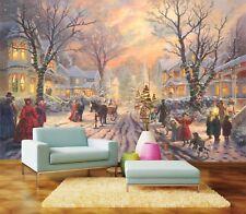 3D Christmas Holiday 8 Wall Paper Murals Wall Print Wall Wallpaper Mural AU Kyra