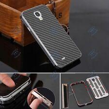 De luxe Aluminium Fibre De Carbone Matière étui coque Pour Samsung Galaxy S 4 IV