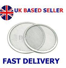 "5"" to 24"" Inch Aluminium Mesh Pizza Screen Baking Tray Wire Mesh Food Crisper UK"