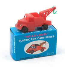 Vintage Blue-Bow (Hong Kong) Plastic Demolition Truck * Matchbox 1-75 Copy *
