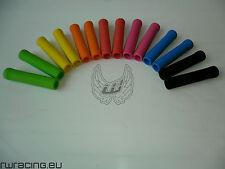 Manopole bici silicone colorate con tappo - silicone bicycle grips