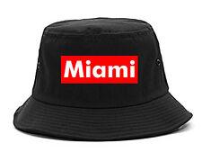 Miami Florida Red Box Bucket Hat