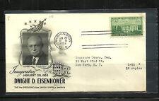 Eisenhower 1st Term Inaugural Cover - Addressed Fleetwood Cachet White House