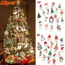 19Pcs Metal Alloy Mixed Christmas Charms Set Jewellery Pendants Decoration Xmas