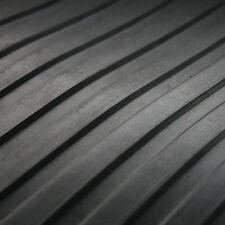 "BROAD Ribbed Cab Garage Shed Workshop Rubber Flooring Matting 59"" wide x 3mm thk"
