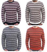 Para Hombre Azteca Moda Fairisle Jumper nórdicos Retro Vintage Navidad Sweater S M L Xl