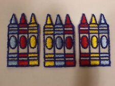 Crayons On Felt Embroidery Applique Patch Emblem Lot (6 Dozen)