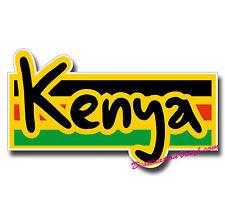 2 x Glossy Vinyl Stickers - Kenya Kenyan Flag Cool Small Laptop Decal #0152