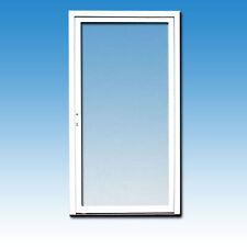 Glastür weiß EK-01 Ladentür abschließbar Eingangstür Balkontür Tür Kunststoff