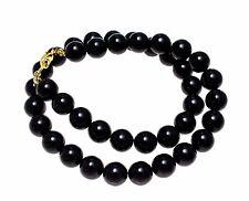 Véritable Naturel corail noir perle Balle COLLIER GUIRLANDE 10mm 40.6cm- 81.3cm