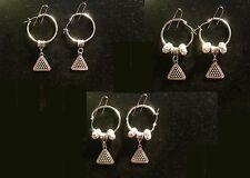 Pool Rack Earring with Charm & Crystal Beads