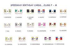 SPEEDWAY RETRO PROGRAMME BIRTHDAY CARDS.CLUBS F - M..17 DESIGNS.FREE UK P&P