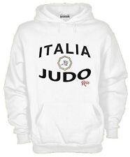 Felpa Con Cappuccio KJ1092 Italia Judo Nazionale Olimpica
