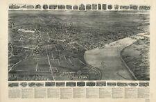 POSTER Print Antique American Cities Villes États Carte Middletown Conn
