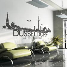 Düsseldorf Skyline Wunschtext Wandtattoo Wandaufkleber Wandsticker Wandbild w112